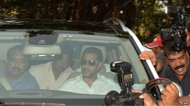 Salman Khan was brought to court amid a huge media scrum