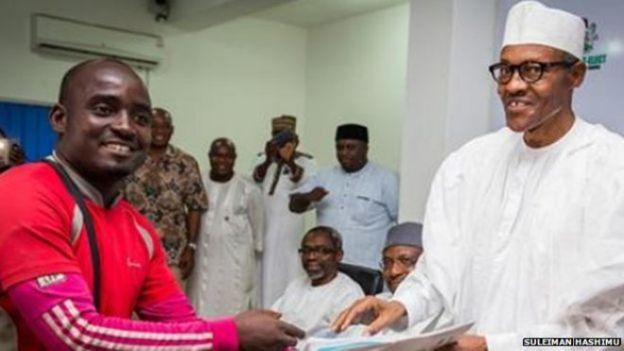 Hashimu meeting President Buhari