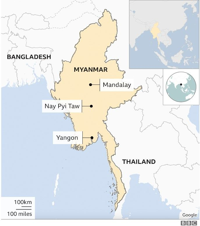 Map with Mandalay