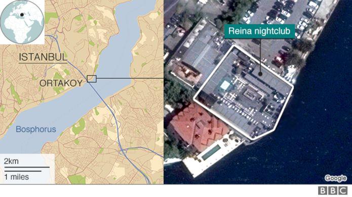 map and satellite shot