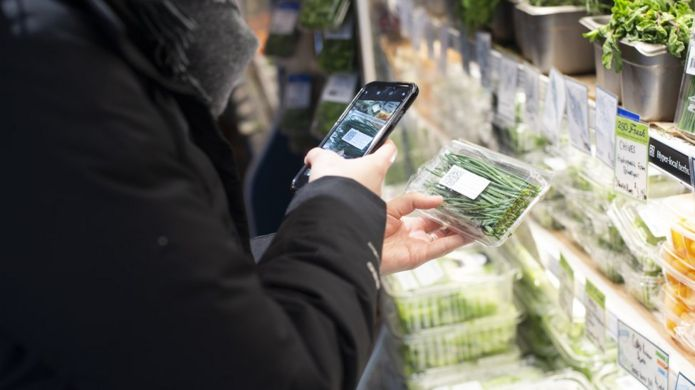 QR codes on the food packaging can tell customers the history of the produce