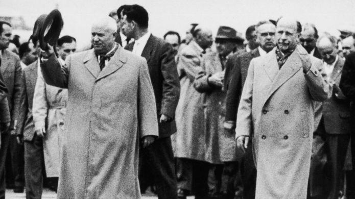 Nikita Jruschov y Walter Ulbricht.