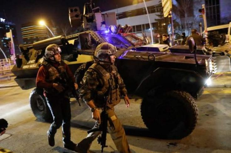 Turkish security forces speedily secured the area near the gallery