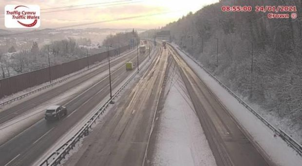 M4 Junction 24 Coldra East (Westbound)