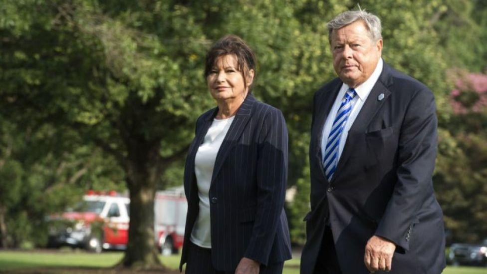 Padres de Melania Trump.