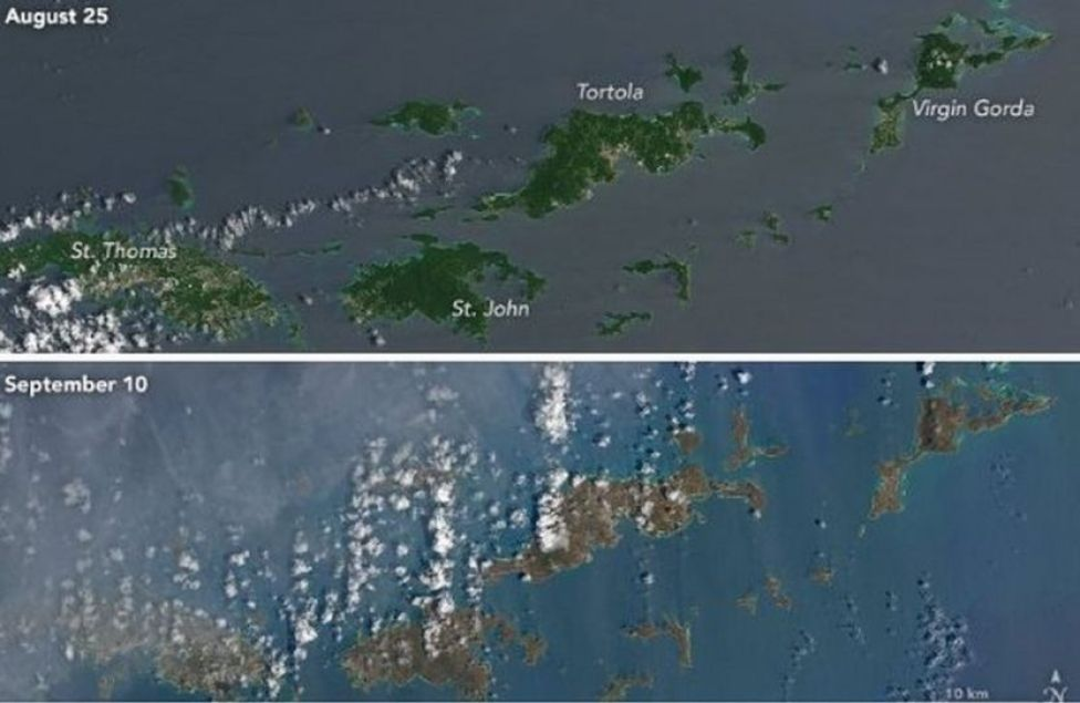 Virgins Islands before and after Irma