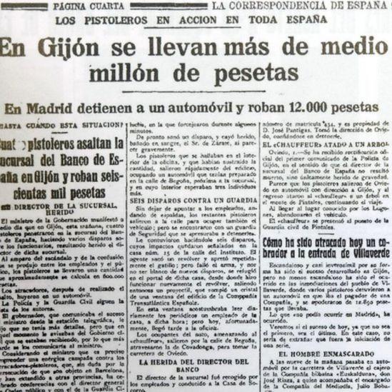 Artículo de diario de 1923