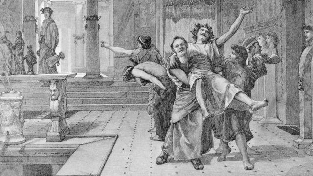 Romans celebrating Saturnalia