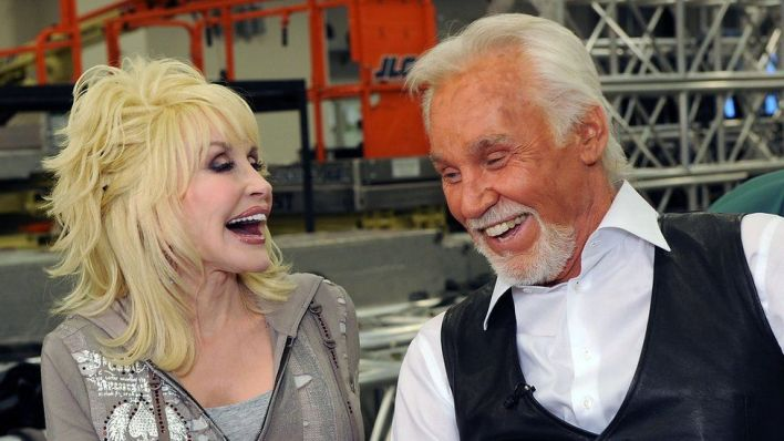 Kenny Rogers and Dolly Parton back in 2010
