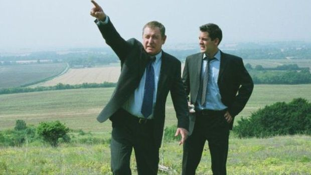 John Nettles as Detective Chief Inspector Tom Barnaby, at work in the Chilterns landscape