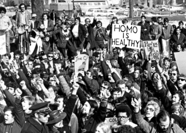 Gay rights rally in 1971