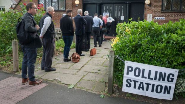 polling station queue