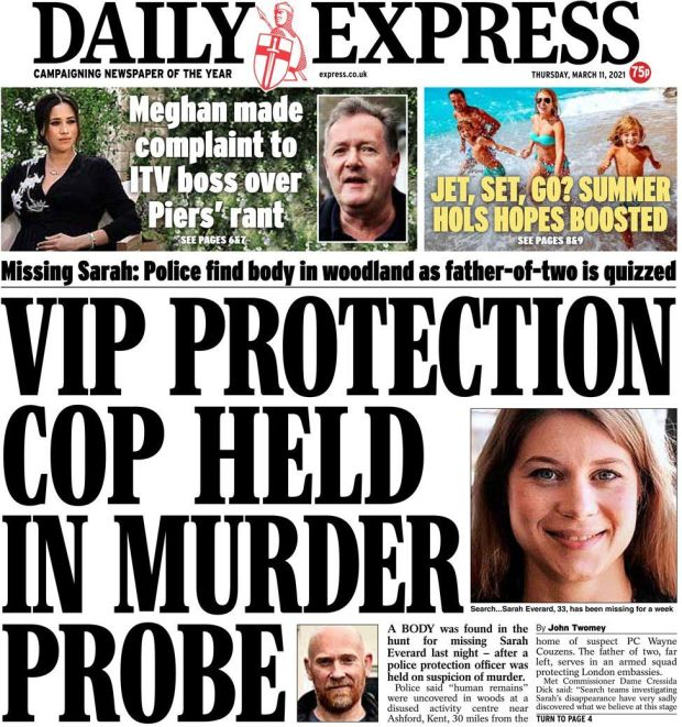 The Daily Express 11 March