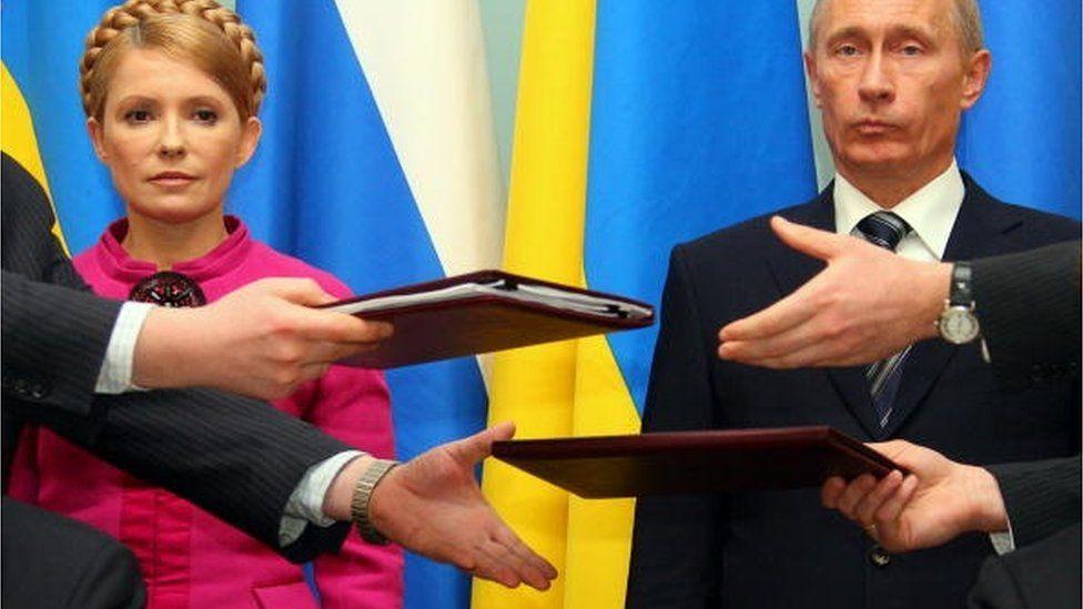 Газовий контракт 2009 року був підписаний після переговорів двох прем'єрів - Тимошенко і Путіна