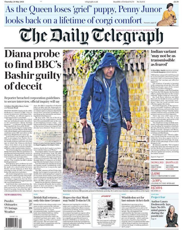 The Daily Telegraph 20 May