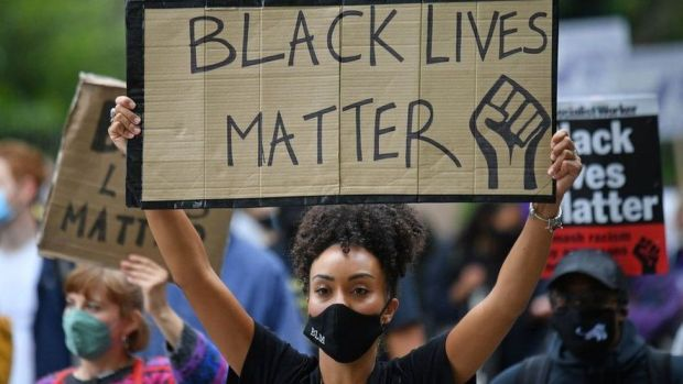Black Lives Matter protester
