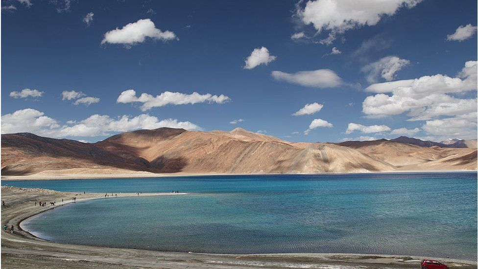The Pangong Tso Lake