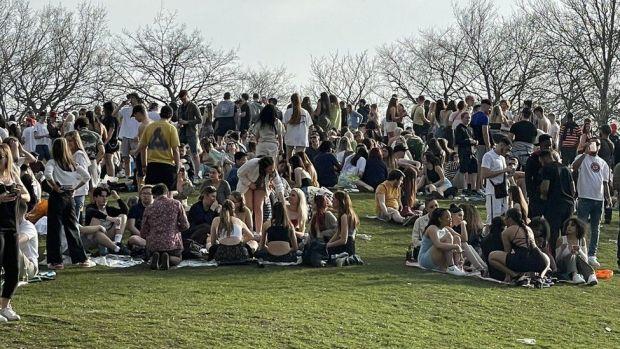 Gatherings at Platt Fields park in Fallowfield, Manchester