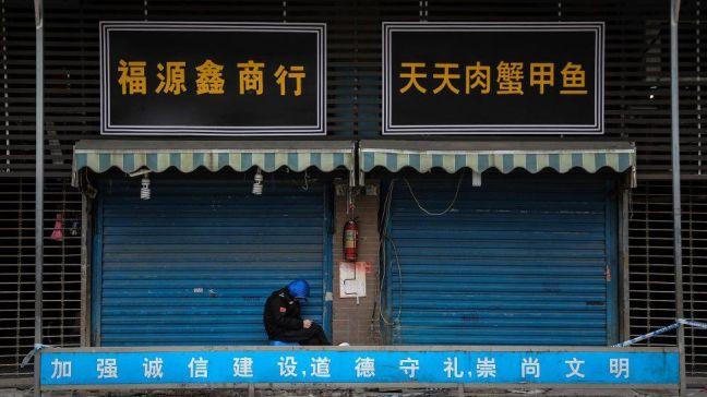 Huanan Seafood Wholesale Market in January, Wuhan