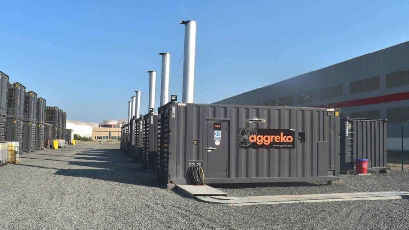 Aggreko power equipment