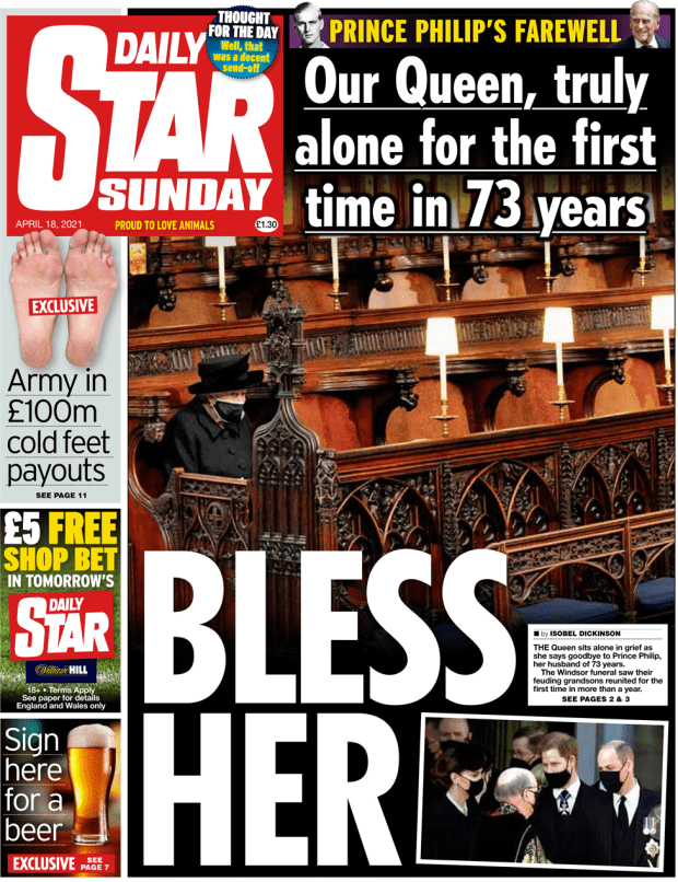 The Daily Star Sunday front page 18 April 2021