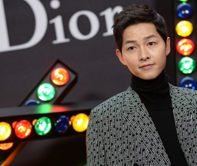 Presentational White Space January 20 Song Joong Ki Attends Dior Homme Menswear Fall Winter 2018