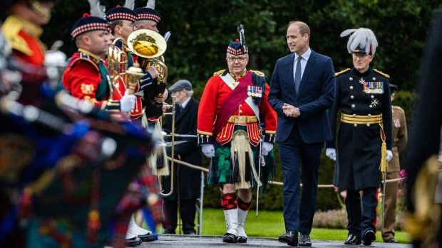Prince William is welcomed with the Ceremony of the Keys at the Palace of Holyroodhouse in Edinburgh