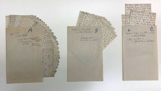 Three manuscript drafts of Wedding Preparations in the Country by Franz Kafka