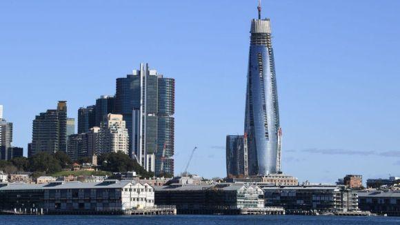 Sydney's Barangaroo tower under construction