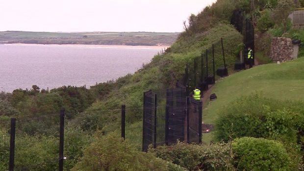 Steel fence