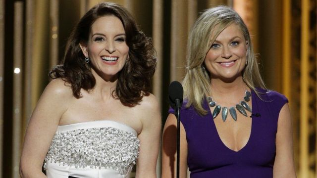 Tina Fey and Amy Poehler hosting the Golden Globes in 2015