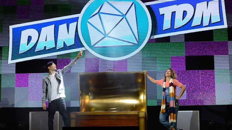 DanTDM on stage