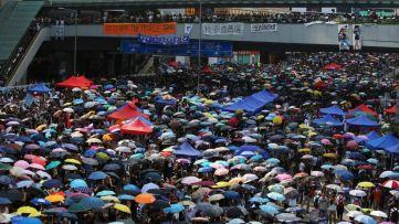 Umbrella Movement protest in Hong Kong, 2014