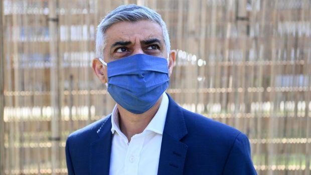 Sadiq Khan in mask
