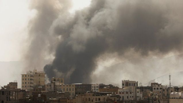 Yemen war: Many feared dead after fire at migrant detention centre - BBC  News