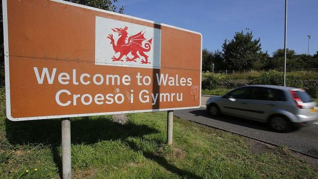 A welcome to Wales in Chepstow