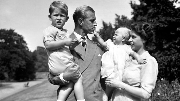 Prince Philip with his family