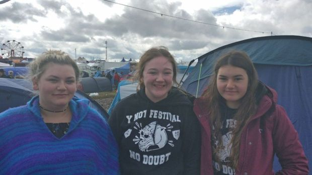 Kerry, Kayleigh and Charlotte at Y Not