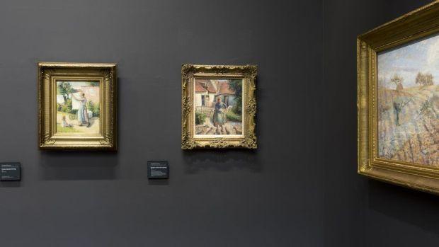 La Bergère Rentrant Des Moutons hanging in the Musée d'Orsay