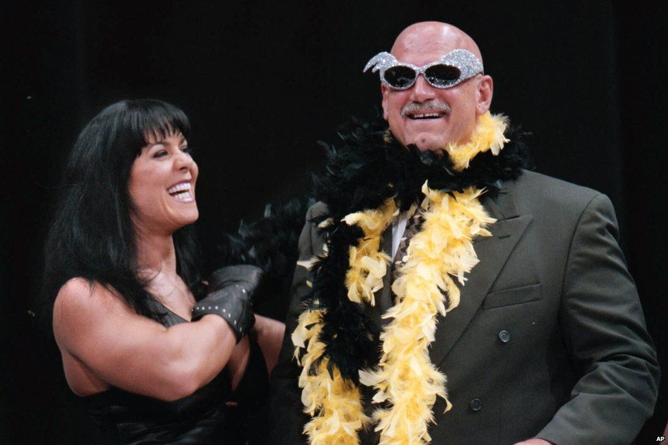 Chyna and Minnesota governor Jesse Ventura