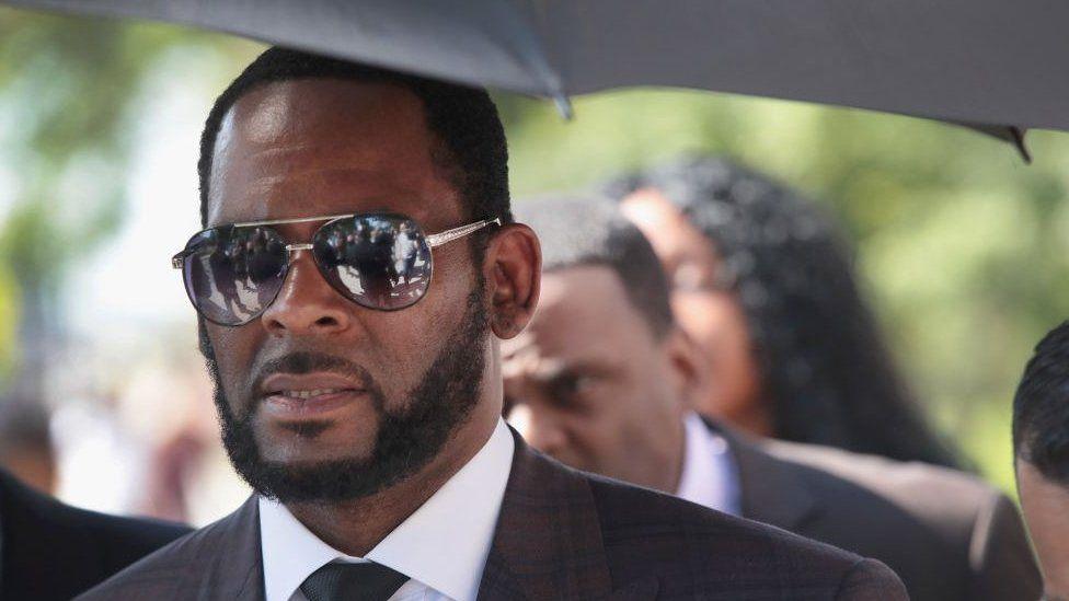 Kelly seen entering court in June 2019