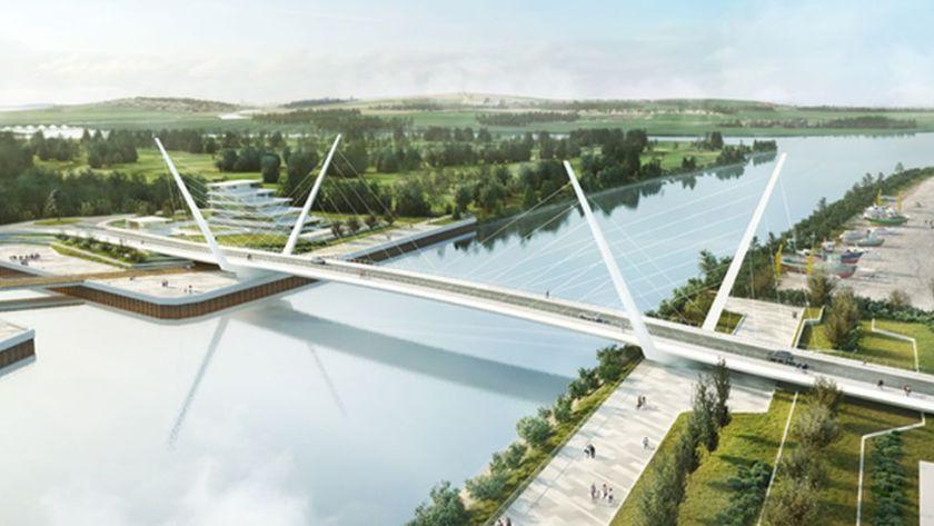 CGI of planned opening road bridge
