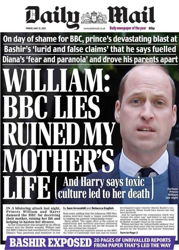 The Daily Mail 21 May