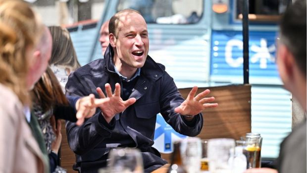 Prince William meets with emergency responders at the Cold Town House in the Grassmarket