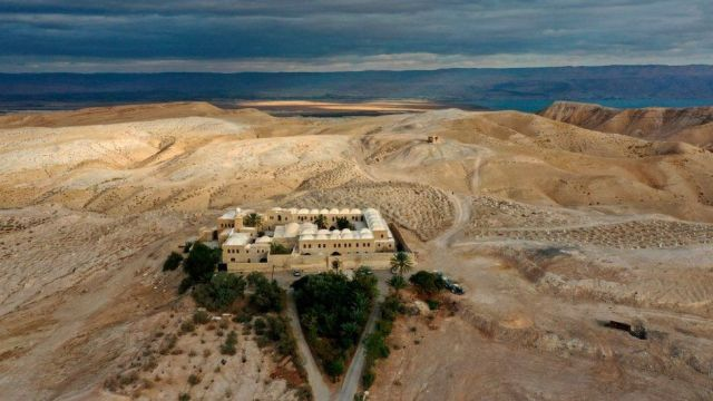 Aerial photograph of the Nabi Musa site in the West Bank