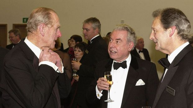 The Duke of Edinburgh with Sir Norman Lloyd Edwards at a royal gala at the Wales Millennium Centre, Cardiff, in 2004