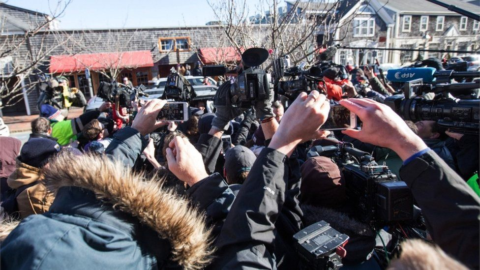 Reporters and onlookers thronged the courthouse as Spacey arrived