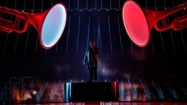 Picture of James Newman at Eurovision