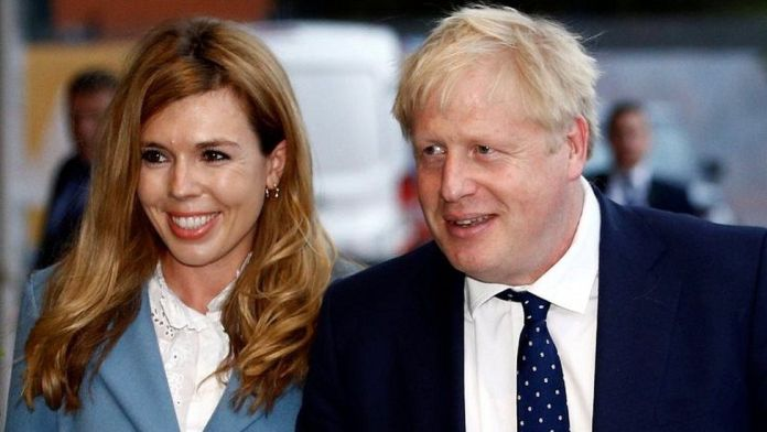Carrie Symonds and Boris Johnson in 2019