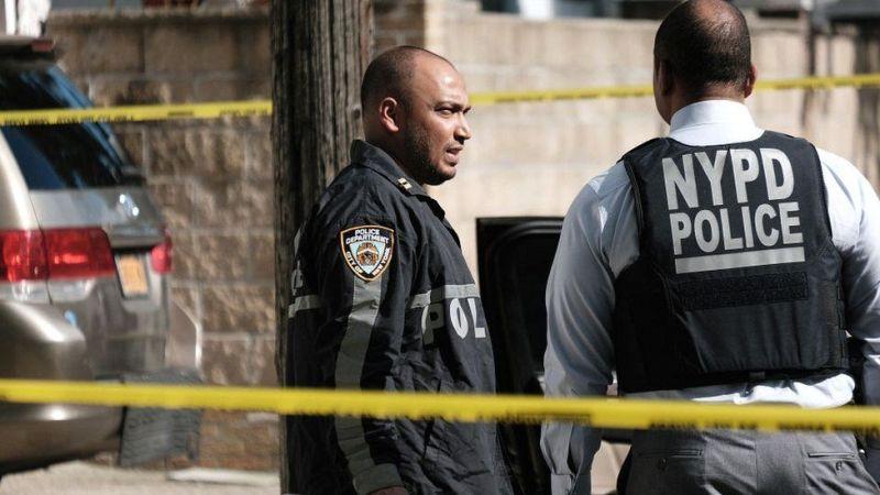 NYPD police at crime scene
